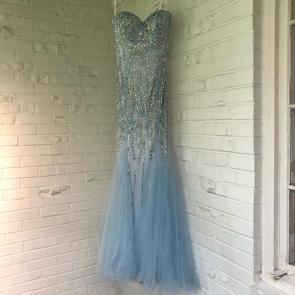 Tony Bowls Dresses & Skirts - Tony Bowls Paris Strapless Mermaid Prom Dress